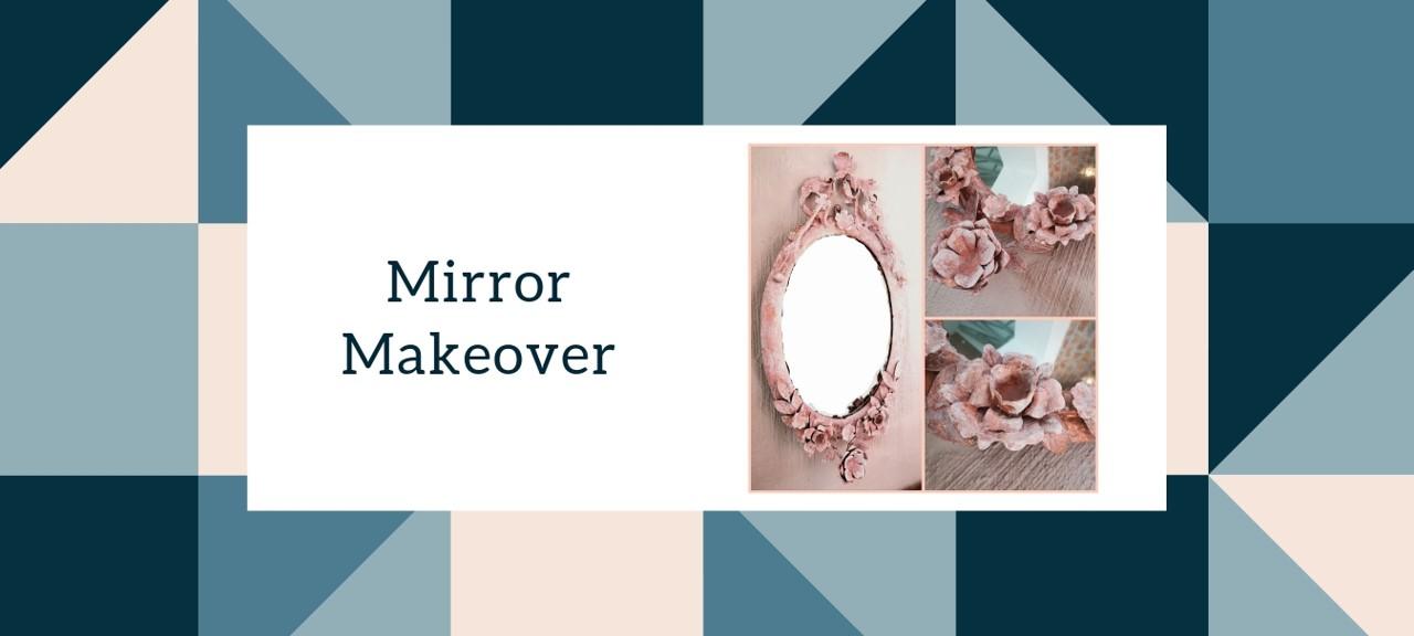 Mirror Makeover diy interior decorating