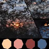 Bushveld sunset with a friendly fire