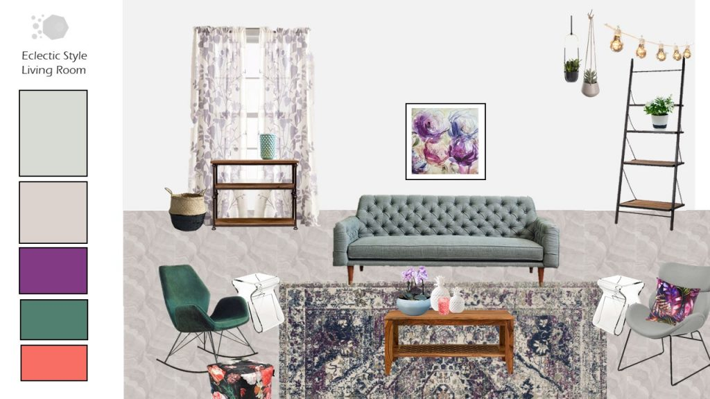 Eclectic Mood Board - Living Room Inspiration