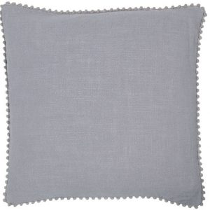 Grey Pop-Pom cushion, throw pillow