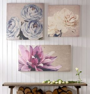 Printed Floral Wall Art