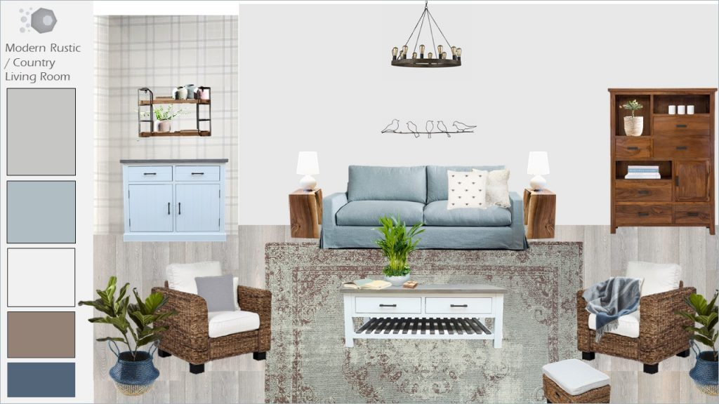 Rustic modern country look - Ombre Design Studio