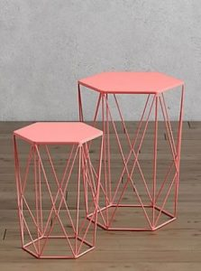Coral Geo Nesting Tables