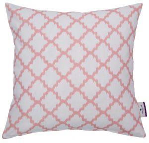Pink White Trellis Cushion