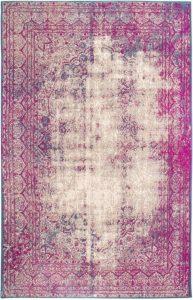 Weathered Pink Purple Blue Sand Rug