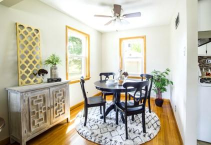 Sunny small dining room