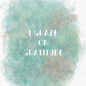 Gratitude White Green Tan Printable Digital Download