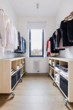 Tidy spacious closet