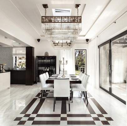Design-details-divide-and-define-space-white-brown-black-dining-room