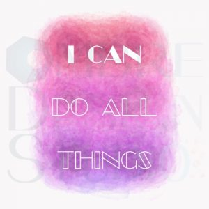 Product Digital Download Printable I Can Pink Purple White