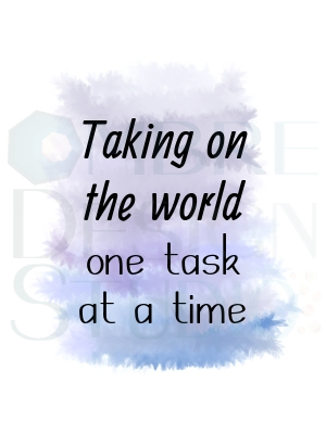 Art One Task at a time Black Grey Blue White Purple Indigo Product Printable Digital Download