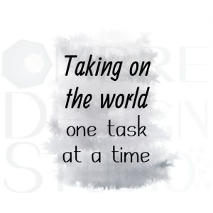 Product One Task Printable Digital Download White Black Grey