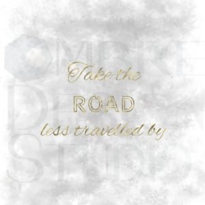 Product Printable Digital Download Road Gold Grey White