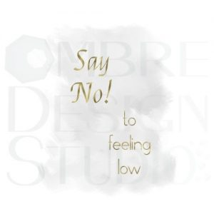Motivational Art Say No Gold Grey Product Printable Digital Download