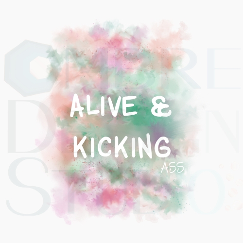 Alive Printable Digital Download Product White Orange Purple Plum Pink Emerald Green