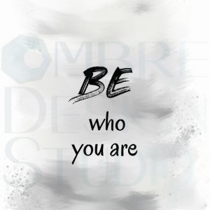 Be You Product Digital Download Printable White Black Grey