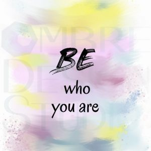 Be You Product Digital Download Printable White Black Teal Blue Bright Yellow Pink