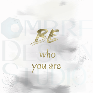 Be You Product Digital Download Printable White Grey Gold