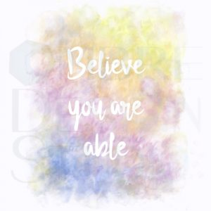 Product Digital Download Printable Believe White Lime-yellow Yellow-orange Red-violet Blue-violet