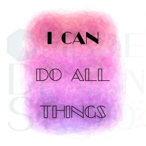 Product Printable Digital Download I Can Pink Purple White Black