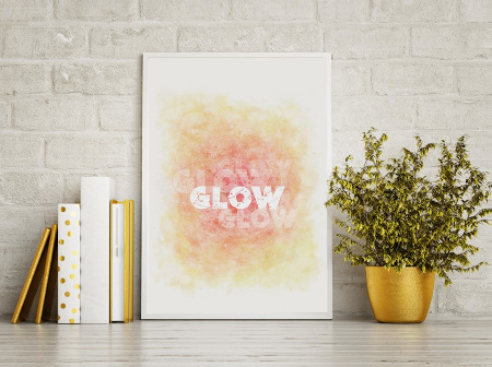 White and gold decor and motivational art