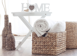Beautiful baskets are practical storage solutions