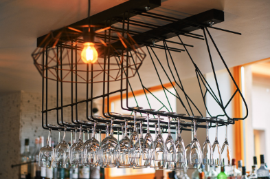 Get inspiration from commercial interiors such as restaurants and bars. Utilise vertical space.