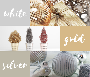 Silver, white, red and gold festive inspiration