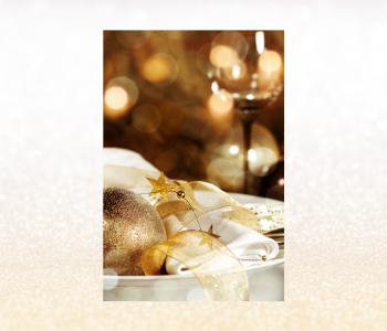 Embrace that golden glow at the dinner table.