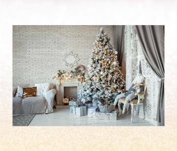 A comfy Christmas corner