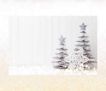 Small Christmas trees are cute and two can be grouped together with an added third element.
