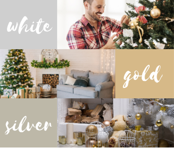 White, gold and silver festive inspiration