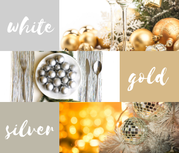 Silver, white and, gold festive inspiration