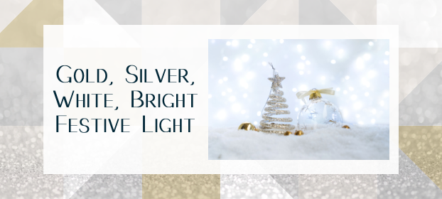Gold, Silver, White, Bright Festive Light