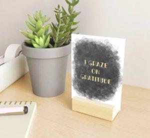 Graze on gratitude - mini art print