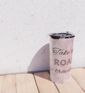Take the road less traveled by - travel mug