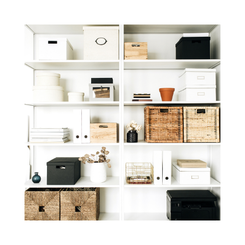 Consider the benefits of being organised and knowing exactly where to find an item
