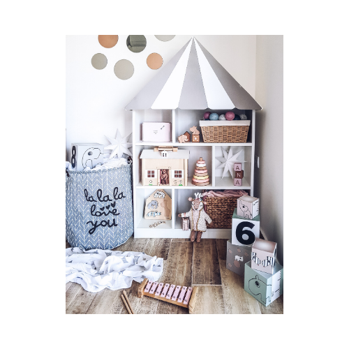 Storage solutions can be incorporated in a fun way as part of the total interior design scheme