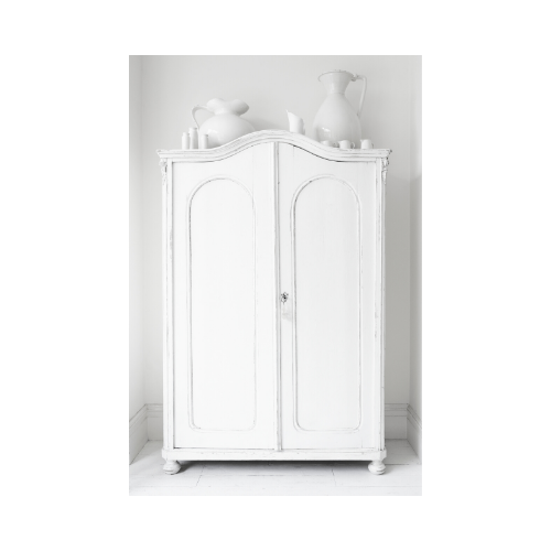 A free-standing cupboard is a practical interior storage amenity