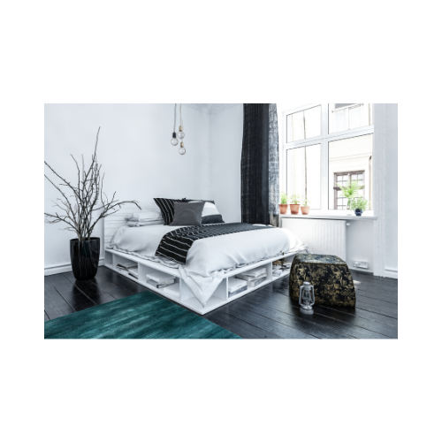 Platform beds can be utilized practically with storage solutions for your interior